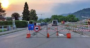 Il ponte di San Zeno, ad Arzignano, transennato