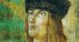 Aldo Manuzio in un dipinto di Bernardino Loschi (1460-1540)