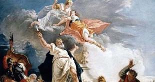 """""""Il sacrificio di Ifigenia"""", olio su tela di Francesco Fontebasso (1749 ca.)"""
