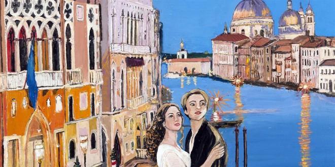 Uno dei dipinti della mostra di Teresina Bertacco Rossi