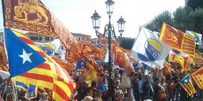 Indipendentisti catalani e veneti assieme