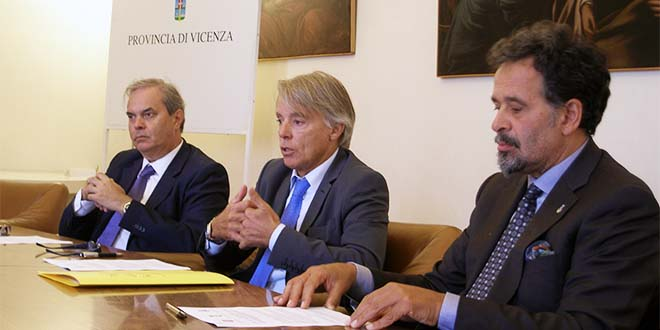 Da sinistra: Achille Variati, Alberto Rizzo e Giancarlo Acerbi