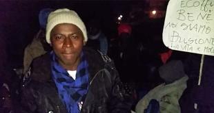 Una protesta di richiedenti asilo nel vicentino (Foto d'archivio)