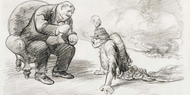Una vignetta antibellicista, del 1914, del pittore americano John French Sloan