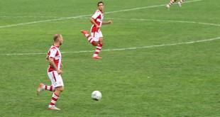 In primo piano, Cristian Galano, autore del gol di oggi del Vicenza