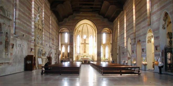 """""""L'interno della Chiesa degli Eremitani, a Padova"""" - Foto: I, Sailko, Wikipedia (CC BY 2.5)"""