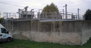 Nella foto, l'attuale impianto di depurazione