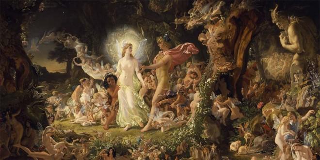 """""""La lite di Oberon e Titania"""" del pittore scozzese Joseph Noel Paton"""
