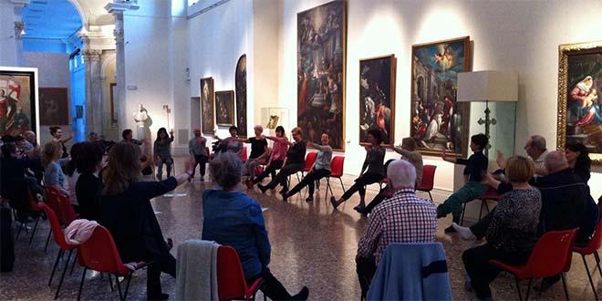 Nella foto, un momento di una lezione al museo civico