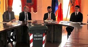 Da sinistra: Damiano Lupato, Roberto Blasich, Francesco Gonzo, Nicolas Cazzola