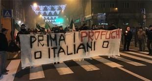 Una delle tante manifestazioni anti-profughi che si sono tenute nel vicentino