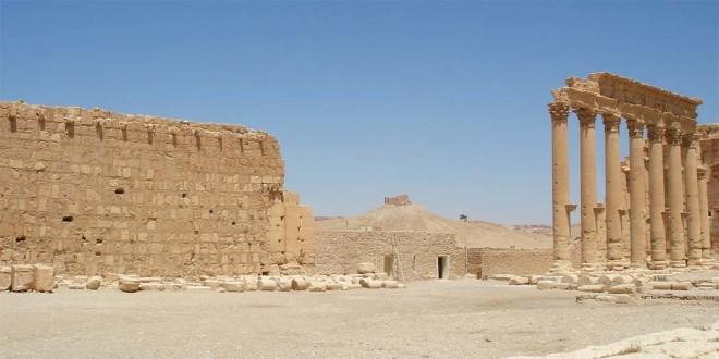 Il complesso archeologico di Palmira, in Siria, in buona parte distrutto dall'Isis
