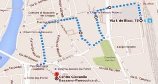 Il percorso del Cammino di sabato 9 gennaio
