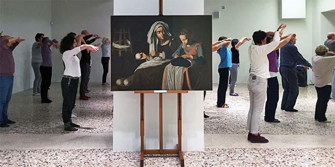 """Immagine di repertorio di una """"dance class"""" al Museo Civico di Bassano del Grappa"""