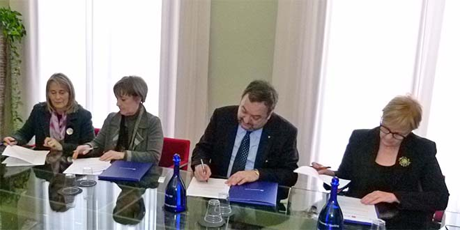 Da sinistra: Grazia Chisin, Marina Bergamin, Giuseppe Zigliotto, Lorenza Leonardi