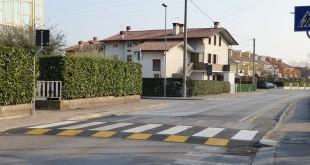 L'attraversamento pedonale protetto realizzato a Centrale