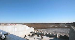 la vasca a monte del bacino di laminazione di Caldogno, inaugurata nel gennaio 2016