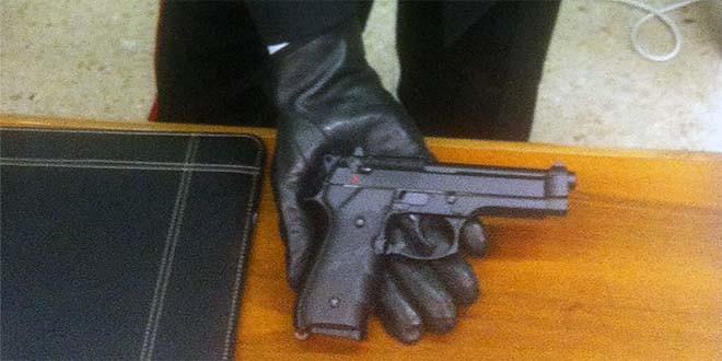 La pistola che aveva addosso il moldavo