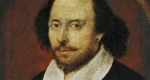 William Shakespeare nel Chandos Portrait, il più noto ritratto del poeta, attribuito a John Taylor
