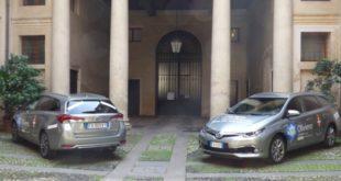 Le due auto che il Comune di Vicenza avrà in comodato d'uso per sei mesi