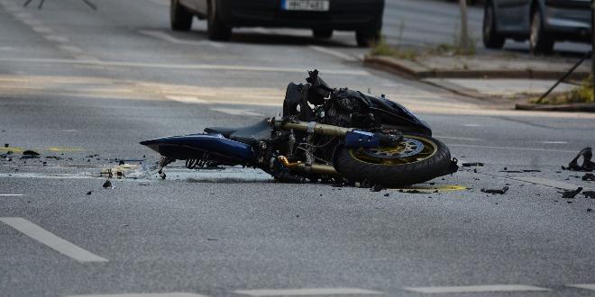 Incidente in moto, immagine di repertorio