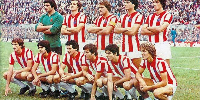 il Lanerossi Vicenza del 1978. Giancarlo Salvi è il terzo da destra, accosciato