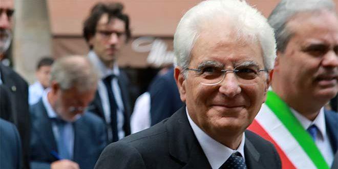 Il presidente della Repubblica durante la sua breve visita a Vicenza nel giugno del 2015