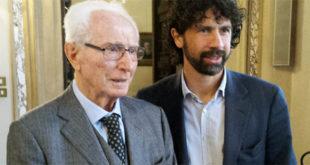 Azeglio Vicini e l'attuale presidente dell'Associazione calciatori Damiano Tommasi