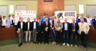 Dopo la presentazione, in Provincia, dei Mondiali di Hockey Inline (Foto Roberta Strazzabosco)