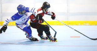 Bersanti in azione, durante il match Italia-Canada. Foto di Marco Guariglia