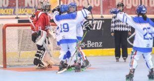 La gioia delle azzurre per la vittoria contro il Canada. Foto di Marco Guariglia