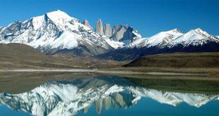 Cime della Patagonia argentina, tra le quali il Cerro Torre ed il monte Fitz Roy