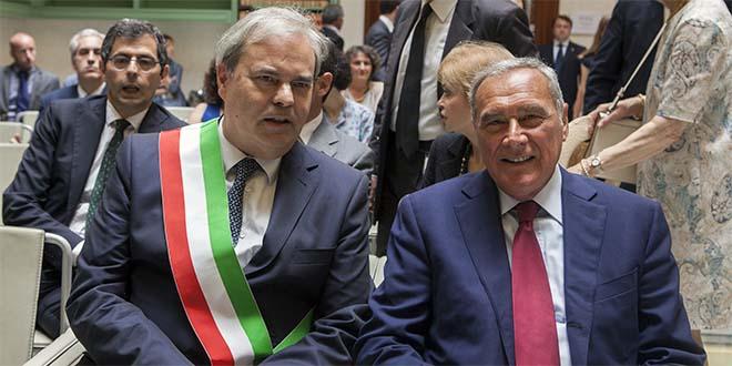 Il sindaco Variati con il presidente del Senato Pietro Grasso