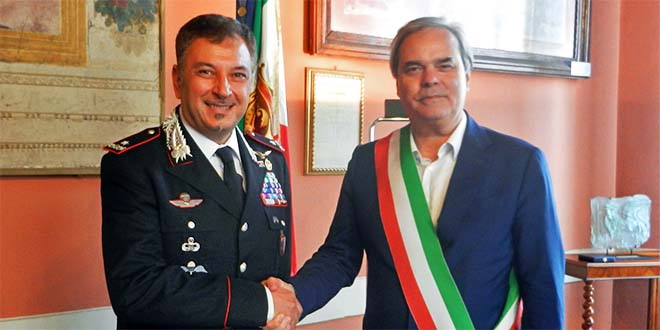 Il generale Giovanni Barbano ed il sindaco di Vicenza Achille Variati