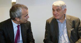 Da sinistra, l'amministratore delegato di BpVI, Francesco Iorio, ed il presidente, Giovanni Mion