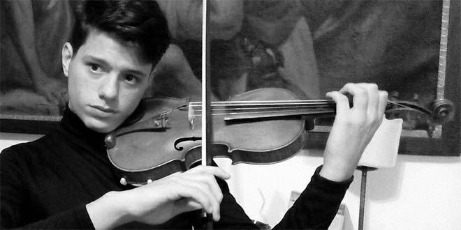 Il giovane violinista Ivos Margoni