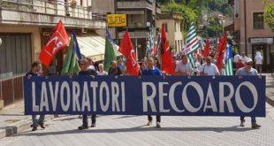 Un manifestazione che si è tenutala nelle settimane scorse a difesa della Recoaro