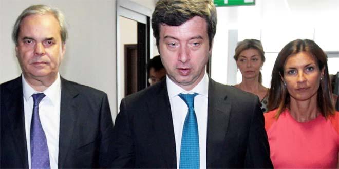 Il ministro della Giustizia Andrea Orlando, tra Achille Variati ed Alessandra Moretti