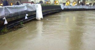 Vicenza, Ponte degli Angeli nei giorni dell'alluvione del 2010