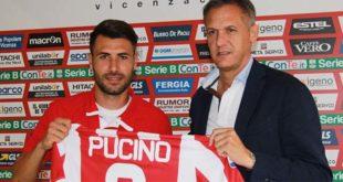 Raffaele Pucino con il direttore generale del Vicenza Calcio Andrea Gazzoli