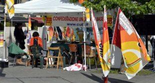 Un sit in di protesta del sindacato autonomo Cub - Foto da www.cub.it (CC 3.0)