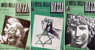"""Alcune copertine della rivista """"La difesa della razza"""" che venne pubblicata in Italia tra il 1938 e il 1943"""