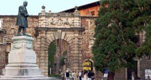 L'ingresso del Teatro Olimpico, uno dei maggiori simboli culturali di Vicenza