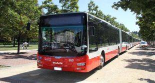I nuovi autobus della società Stv
