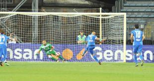 Il rigore realizzato da Massimo Maccarone al quarto minuto