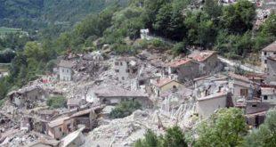 Un'immagine emblematica del terremoto del 24 agosto 2016