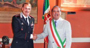 Il colonnello Alberto santini, nuovo comandante provinciale dei Carabinieri, e il sindaco di Vicenza Achille Variati