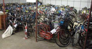 Le biciclette in giacenza all'Ufficio oggetti rinvenuti del Comune di Vicenza