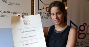 Ludovica Medaglia, vincitrice del Premio Campiello Giovani 2016