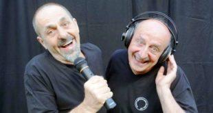 """Il duo """"Gli Instabili"""", che proporrà lo spettacolo comico """"Radio monamur!""""."""